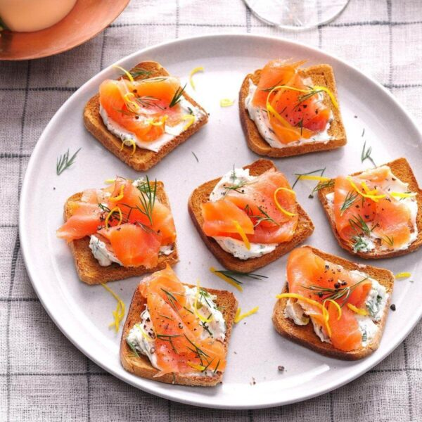 Lemon-Herb Salmon Toast