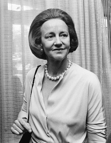 Katharine Graham, pictured in 1975, was the publisher of The Washington Post. Wikimedia Commons.