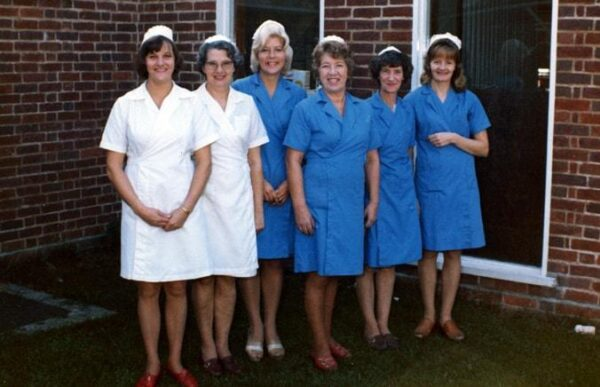 Nurses from the 1970s. Godmanchester County Primary School.