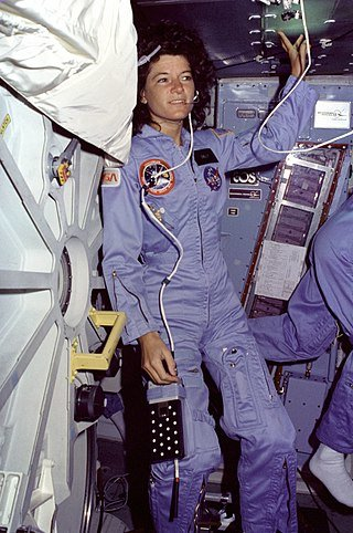 Sally Ride on Challenger's mid-deck during STS-7 in 1983. NASA / Wikimedia Commons / Public Domain.
