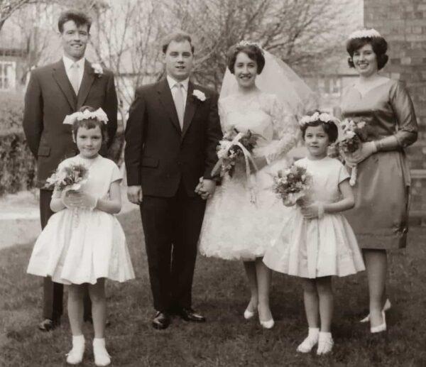 A wedding photo. vintage.es.