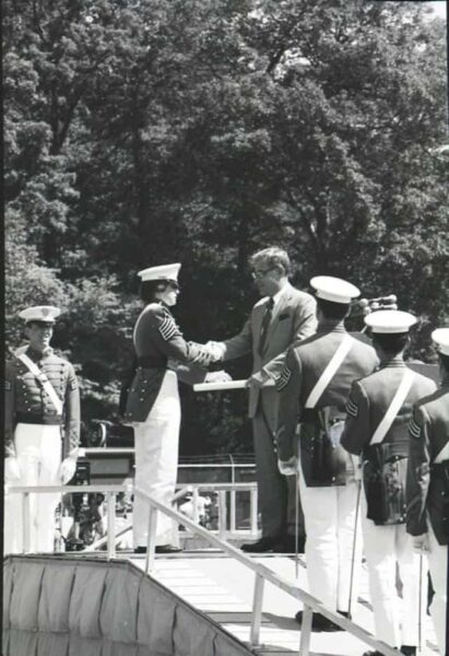 Andrea Hollen graduating from West Point. Department of the Army / army.mil.