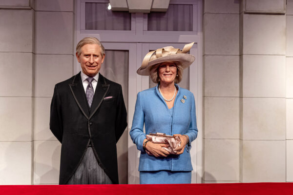 Wax figures of the Prince Charles and Princess Camilla, Madame T