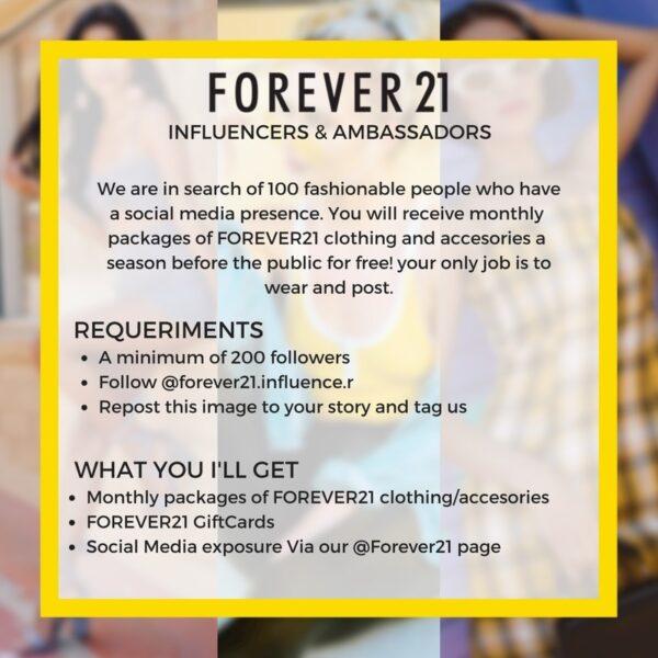 Forever 21 Influencer