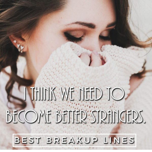 I think we need to become better strangers.